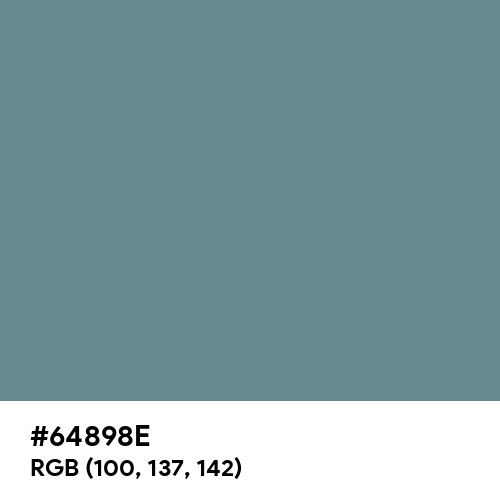 Steel Teal (Hex code: 64898E) Thumbnail
