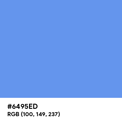Cornflower Blue (Hex code: 6495ED) Thumbnail
