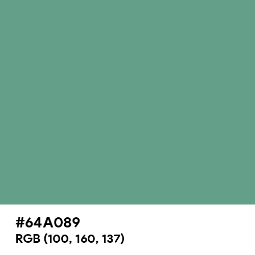 Polished Pine (Hex code: 64A089) Thumbnail