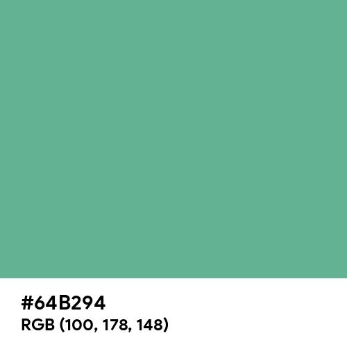 Dull Sea Green (Hex code: 64B294) Thumbnail