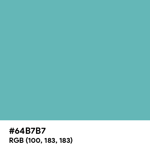 Moonstone Blue (Hex code: 64B7B7) Thumbnail