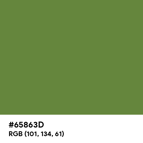 Maximum Green (Hex code: 65863D) Thumbnail