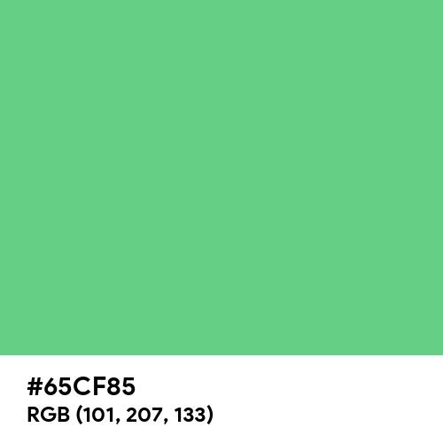 Emerald (Hex code: 65CF85) Thumbnail