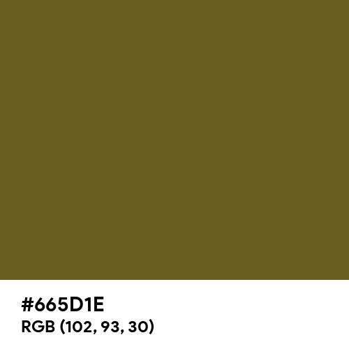 Antique Bronze (Hex code: 665D1E) Thumbnail