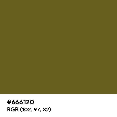 Antique Bronze (Hex code: 666120) Thumbnail