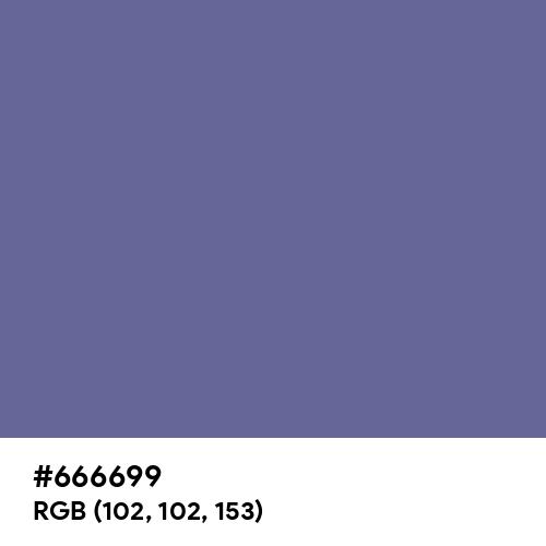 Dark Blue-Gray (Hex code: 666699) Thumbnail