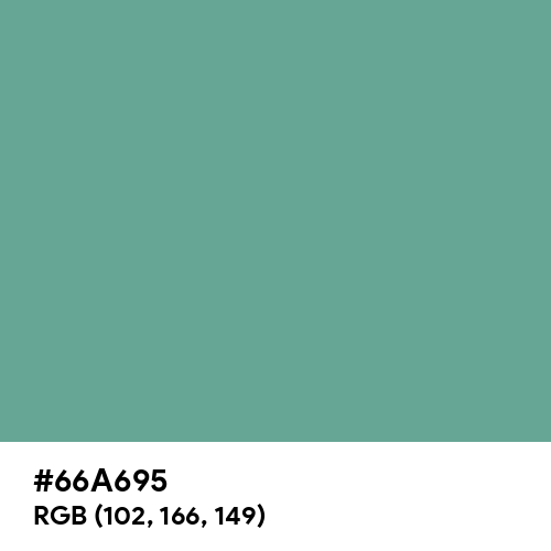 Polished Pine (Hex code: 66A695) Thumbnail