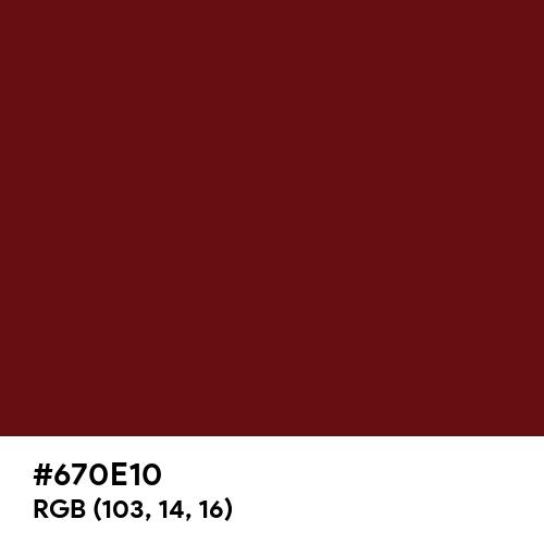 Royal Maroon (Hex code: 670E10) Thumbnail