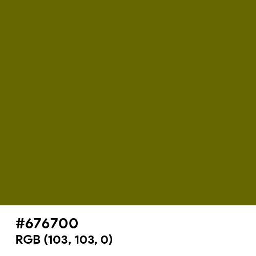 Deep Olive (Hex code: 676700) Thumbnail