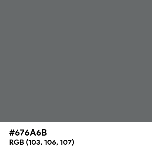 Dim Gray (Hex code: 676A6B) Thumbnail