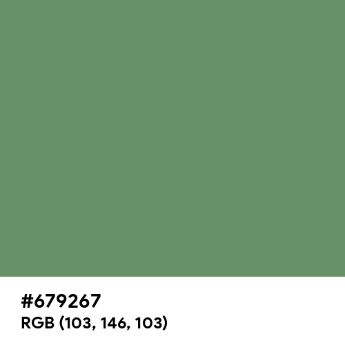 Russian Green (Hex code: 679267) Thumbnail