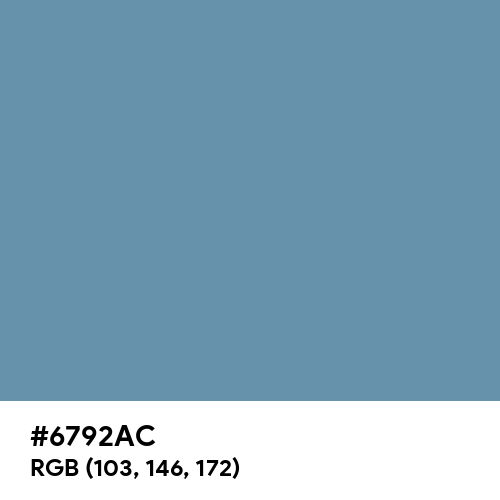 Pastel Blue (RAL) (Hex code: 6792AC) Thumbnail