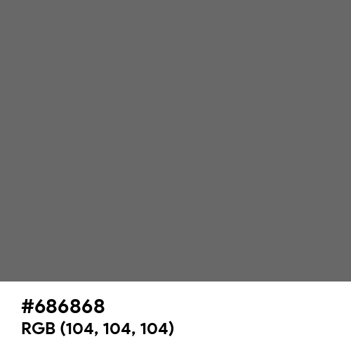 Deep Gray (Hex code: 686868) Thumbnail