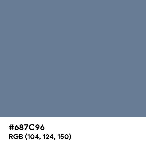 Pigeon Blue (Hex code: 687C96) Thumbnail