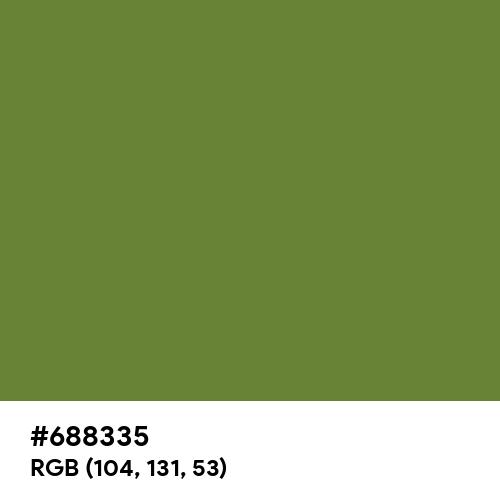 Maximum Green (Hex code: 688335) Thumbnail