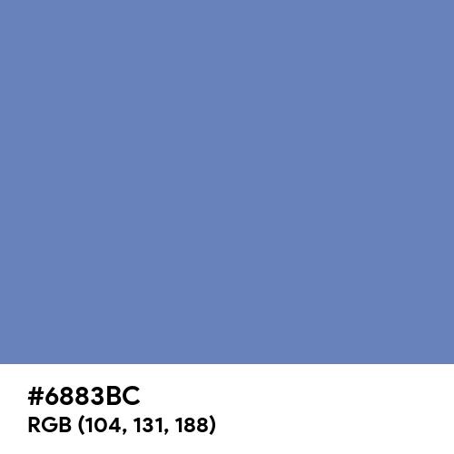 Glaucous (Hex code: 6883BC) Thumbnail