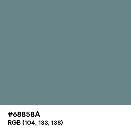 Steel Teal (Hex code: 68858A) Thumbnail