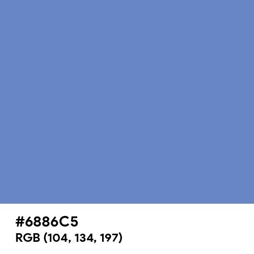Silver Lake Blue (Hex code: 6886C5) Thumbnail