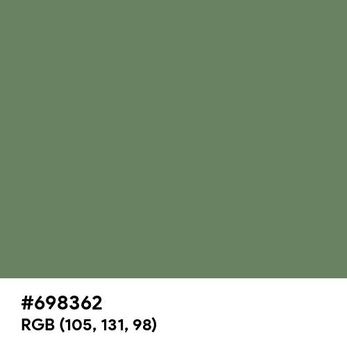 Zombie Green (Hex code: 698362) Thumbnail