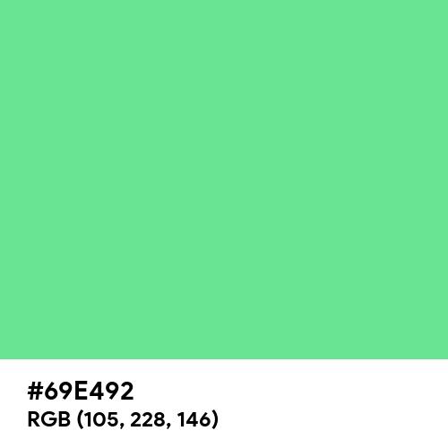 Very Light Malachite Green (Hex code: 69E492) Thumbnail