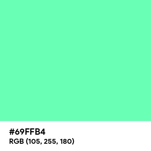 Medium Aquamarine (Hex code: 69FFB4) Thumbnail