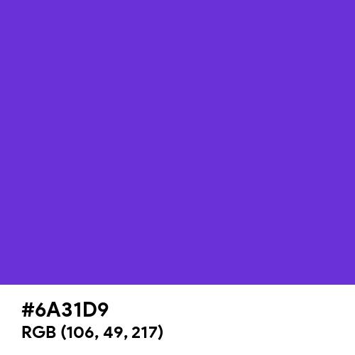 Majorelle Blue (Hex code: 6A31D9) Thumbnail