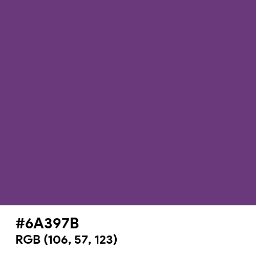 Amaranth Purple (Hex code: 6A397B) Thumbnail