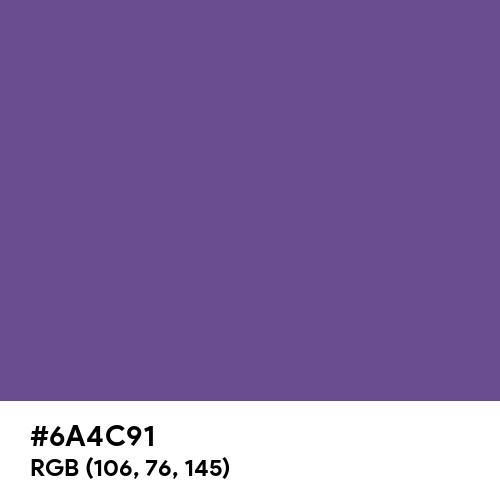 Dark Lavender (Hex code: 6A4C91) Thumbnail