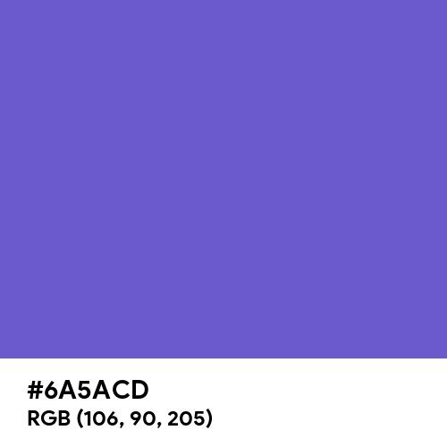 Slate Blue (Hex code: 6A5ACD) Thumbnail