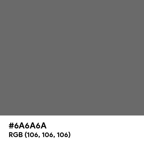 Dim Gray (Hex code: 6A6A6A) Thumbnail