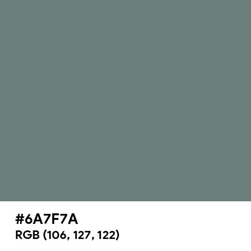 錆浅葱 (Sabiasagi) (Hex code: 6A7F7A) Thumbnail
