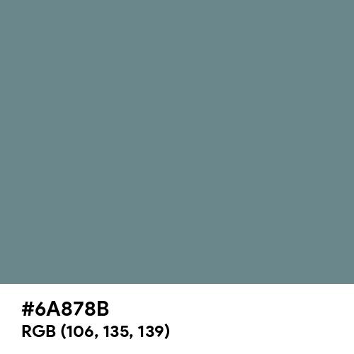 Slate Gray (Hex code: 6A878B) Thumbnail