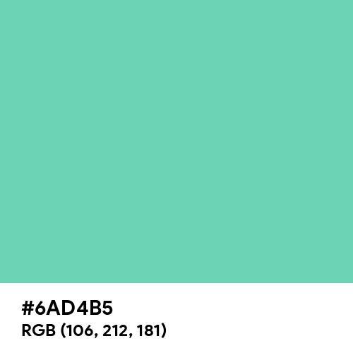 Medium Aquamarine (Hex code: 6AD4B5) Thumbnail