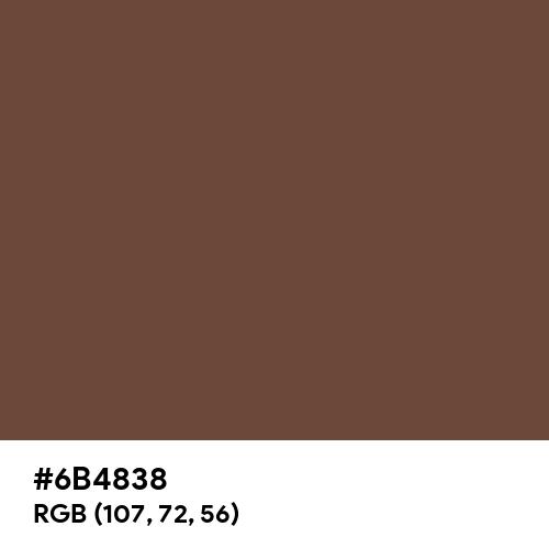 Oxford Brown (Hex code: 6B4838) Thumbnail