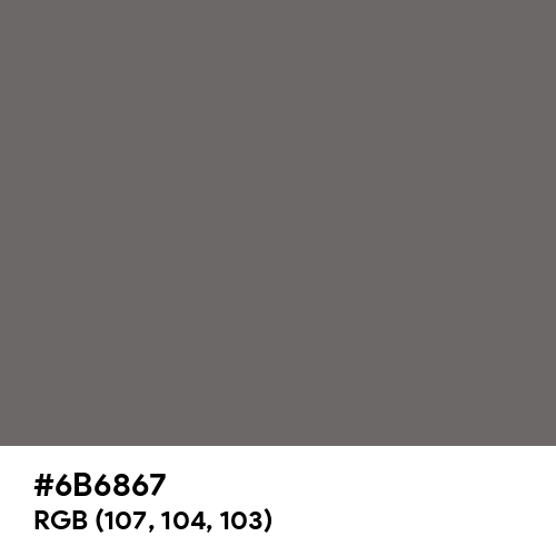 Clay (Hex code: 6B6867) Thumbnail
