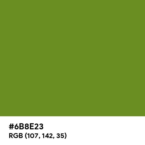 Olive Drab (Hex code: 6B8E23) Thumbnail