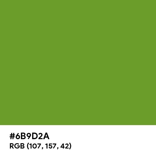 Olive Drab (#3) (Hex code: 6B9D2A) Thumbnail