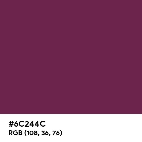 Magenta Purple (Hex code: 6C244C) Thumbnail