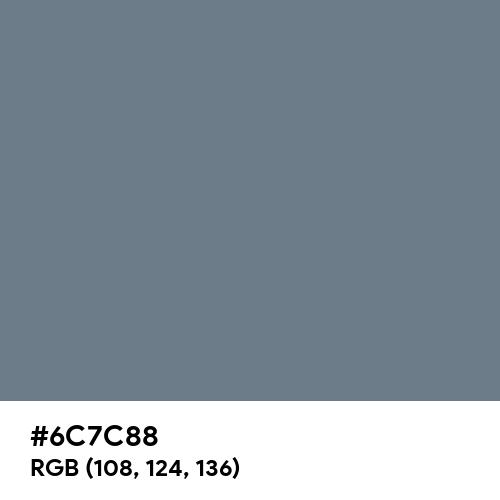 AuroMetalSaurus (Hex code: 6C7C88) Thumbnail