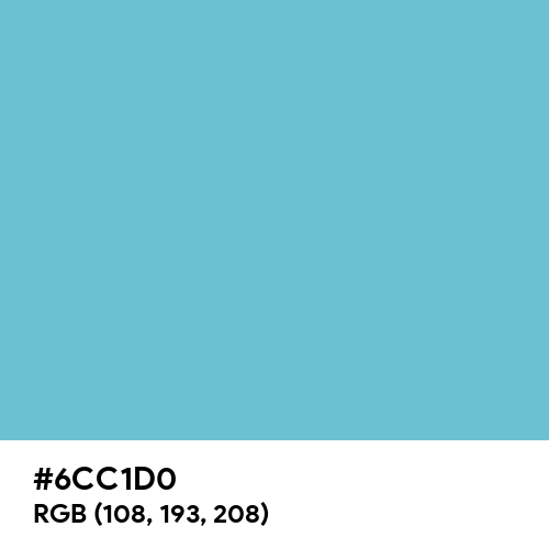 Iceberg (Hex code: 6CC1D0) Thumbnail