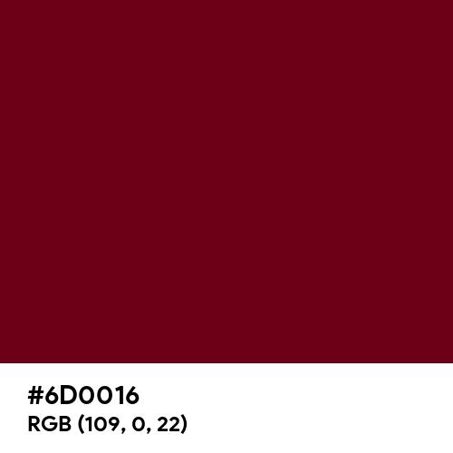 Rich Burgundy (Hex code: 6D0016) Thumbnail