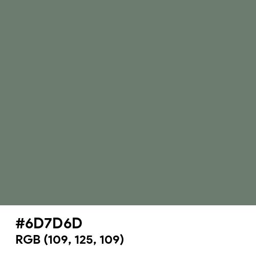 Nickel (Hex code: 6D7D6D) Thumbnail
