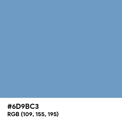 Cerulean Frost (Hex code: 6D9BC3) Thumbnail