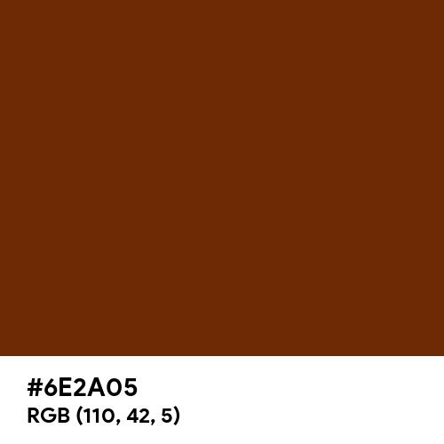 Warm Chocolate (Hex code: 6E2A05) Thumbnail