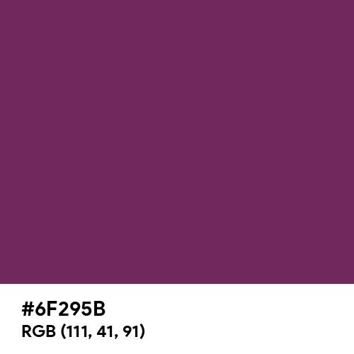 Byzantium (Hex code: 6F295B) Thumbnail