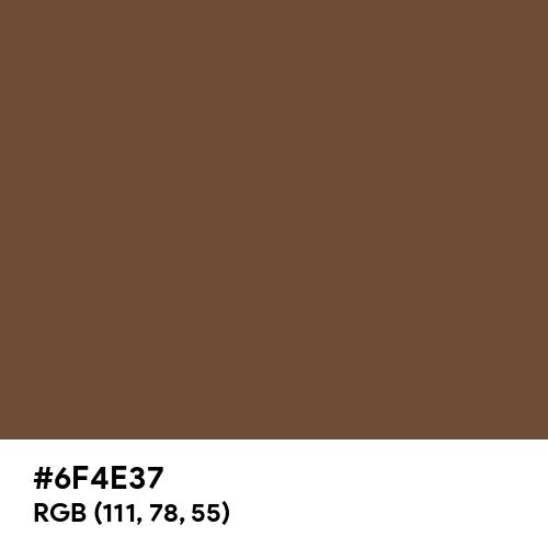 Coffee (Hex code: 6F4E37) Thumbnail