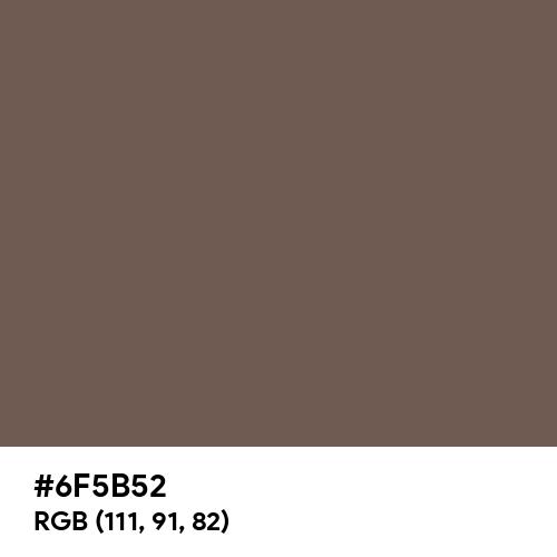 Mocha Black (Hex code: 6F5B52) Thumbnail