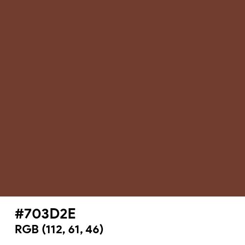 Deep Coffee Brown (Hex code: 703D2E) Thumbnail