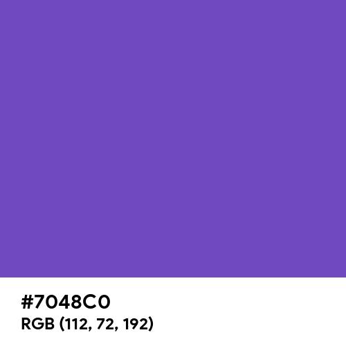 Slate Blue (Hex code: 7048C0) Thumbnail
