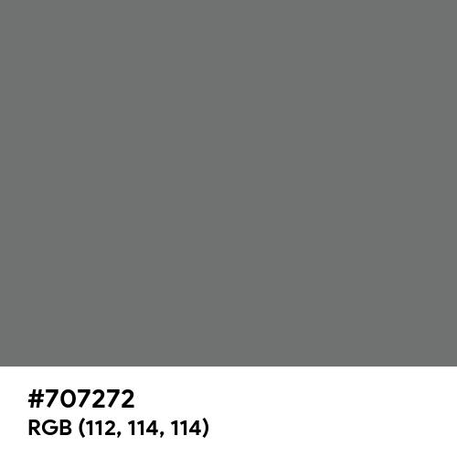 Power Gray (Hex code: 707272) Thumbnail